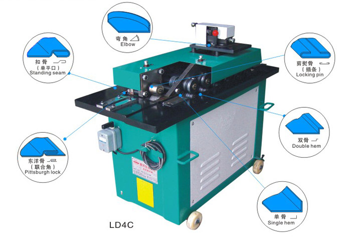 sheet metal snap lock machine